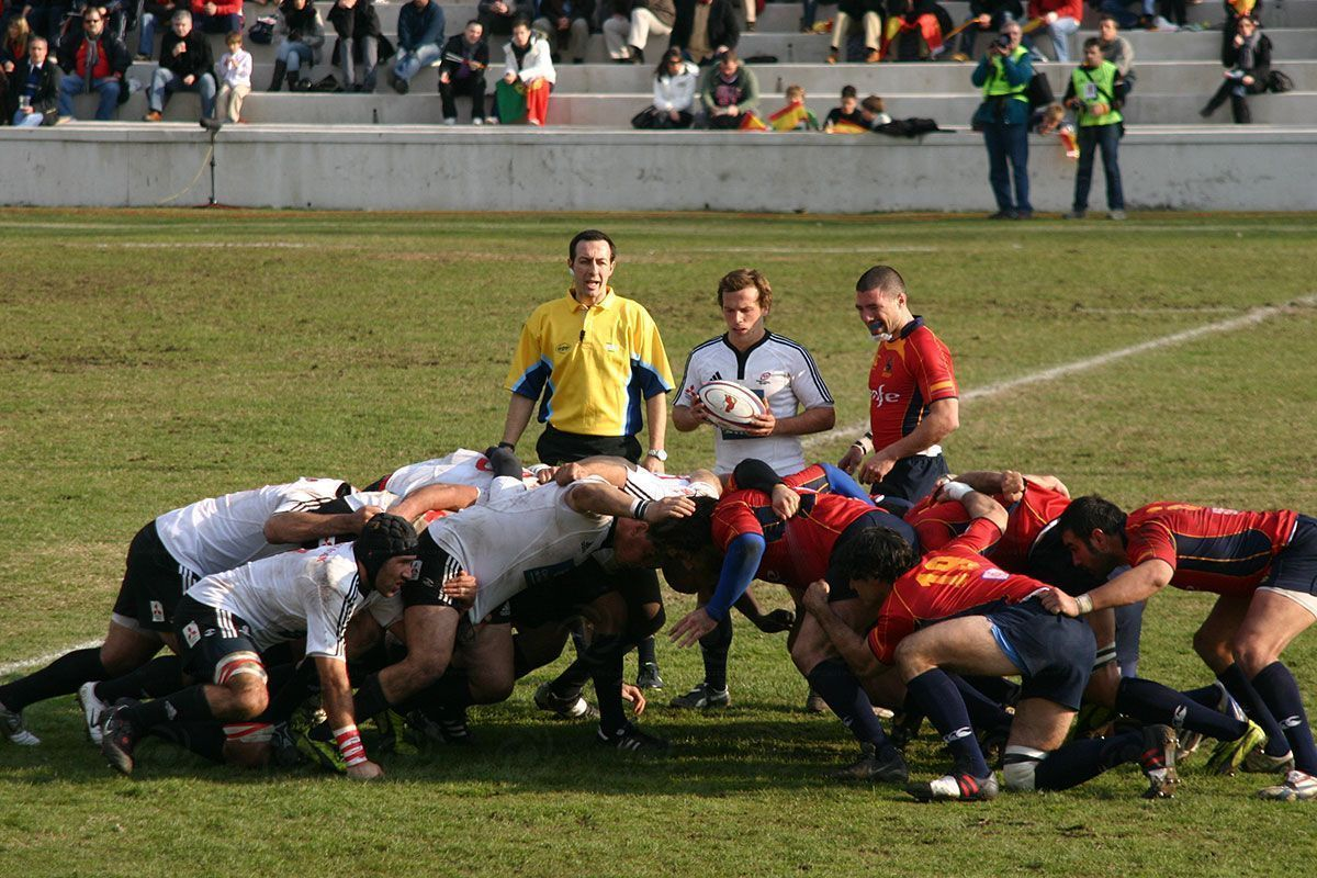 Melee, Rugby, España vs Portugal